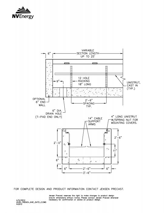 Jensen Precast - Electric Utility Structures - Trenches