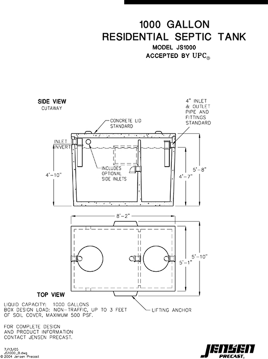 1000 Gallon Septic Diagram Image Collections Diagram Writing Sample And Guide