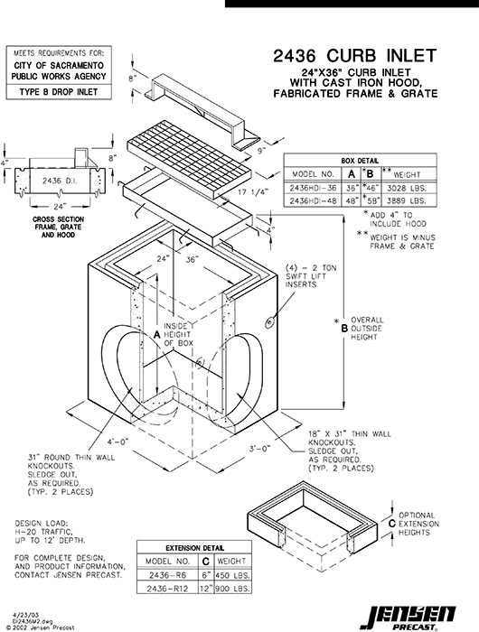 Precast Concrete Curb Reinforcement : Storm sewer box free engine image for user manual