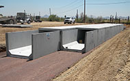 Double-cell 10' wide x 6' high Type I box culvert, Pinnacle Peak & Tatum intersection drainage improvements, City of Phoenix.