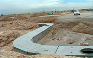 10' wide x 6' high Type I box culvert with 90-degree turn radius, custom manway accesses and lateral penetrations.  City North Project, Phoenix Arizona